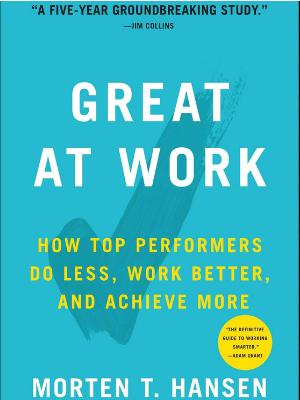 Great at work - Efektywonść osobista książka